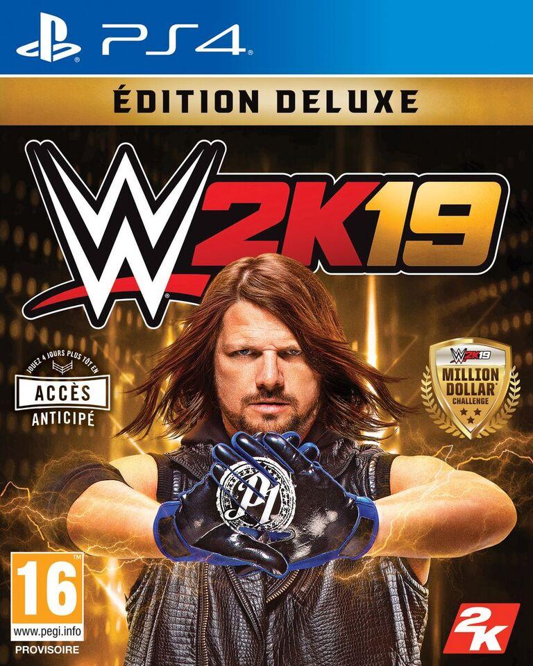 AJ Styles sur la jaquette de @WWEgames 👊🏼 #WWE2K19 @2KFrance @WWE_Fr