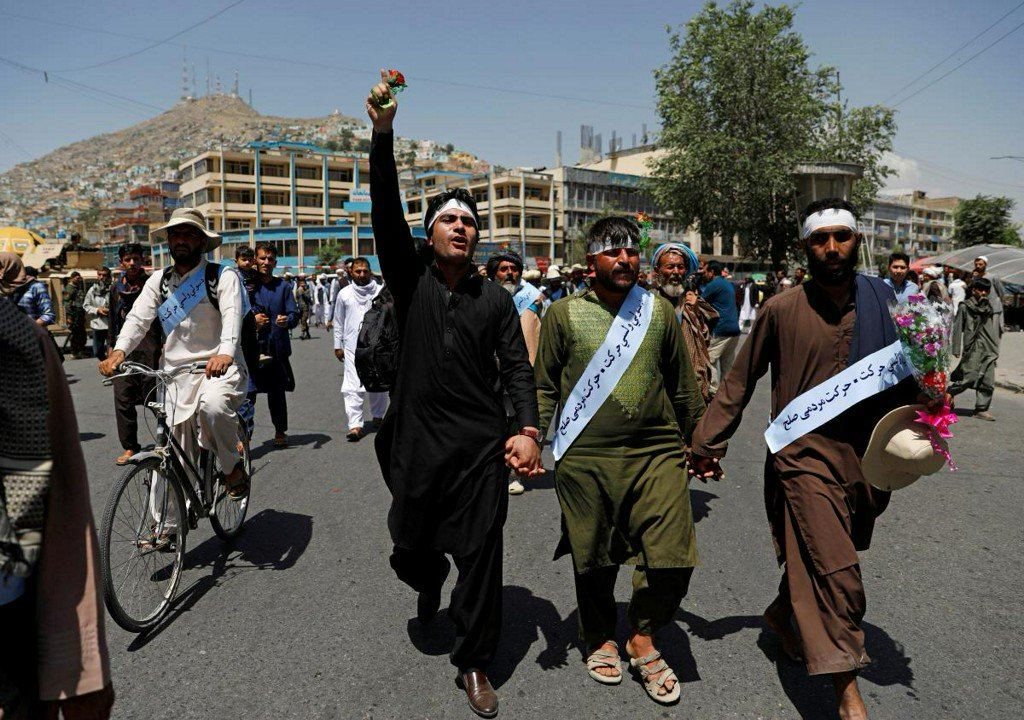 Afghan peace marchers arrive in Kabul exhausted and tired of war https://t.co/jA6yOVHsvT
