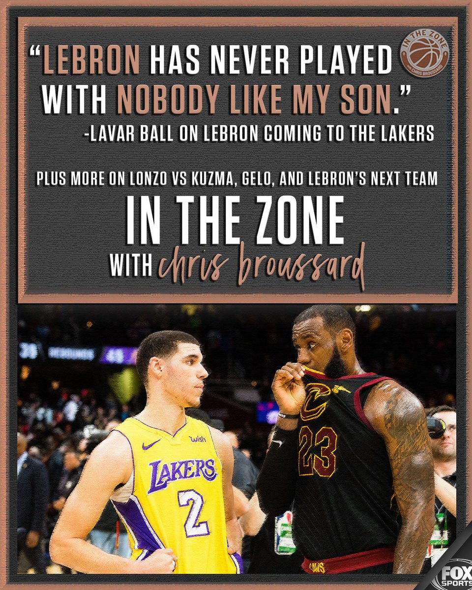 Could Lonzo Ball be the best player LeBron has EVER played with? Lavar Ball explains himself and tells you why LeBron is headed to LA only on #InTheZone with @Chris_Broussard! 🏀SUBSCRIBE🎙️: itunes.apple.com/us/podcast/in-…