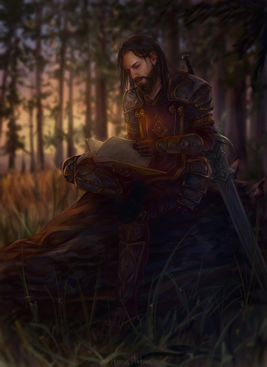 Theres always time to steal a few quiet moments with a favorite book. 📖 We're captivated by this gorgeous #ESO character portrait by Anne Helme. What tale do you think this hero is reading? (Source: beth.games/2l5nGUK)
