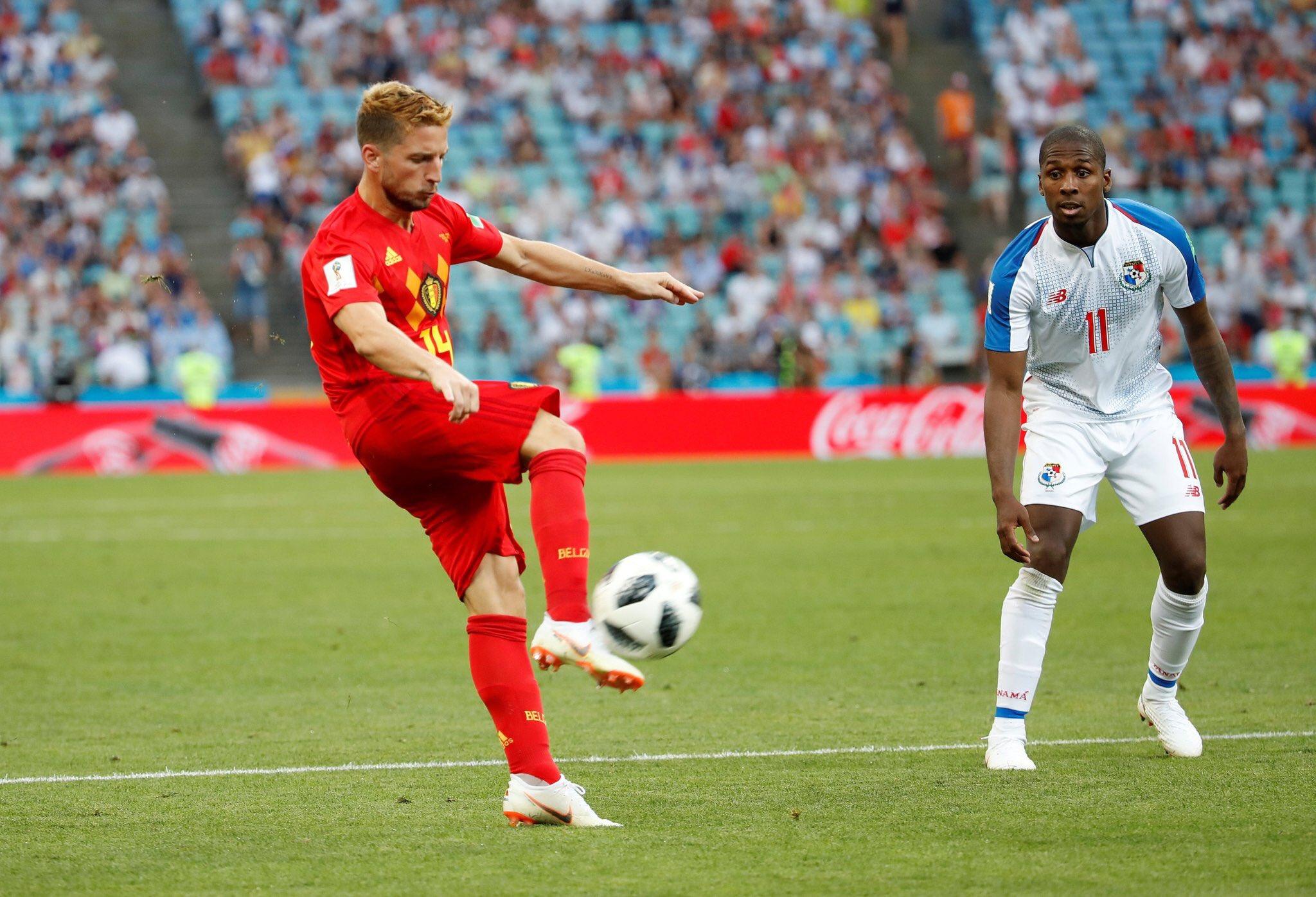 هدف بلجيكا الأول أمام بنما