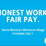 Image for the Tweet beginning: Santa Monica's minimum wage for