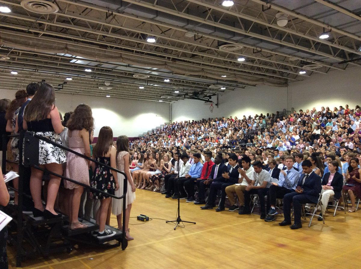 Promotion Ceremony for our 8th graders! We even had a special visitor from the graduating class of '49 - Mr. Elvin Sill. <a target='_blank' href='https://t.co/wq1TBwEX5X'>https://t.co/wq1TBwEX5X</a>