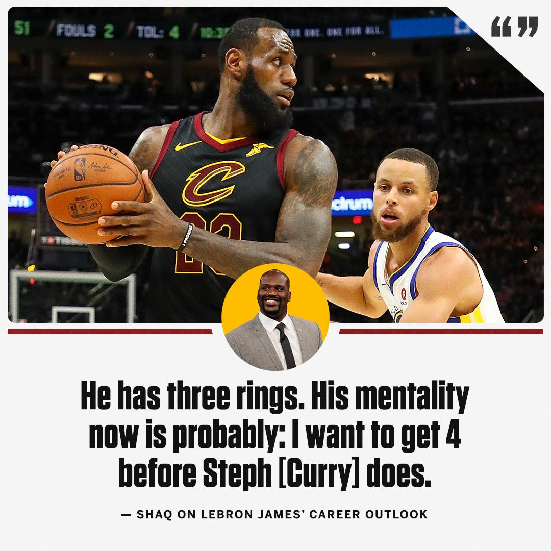 Shaq has an idea of where LeBron's focus is for next season. https://t.co/QyjbdF6FlO