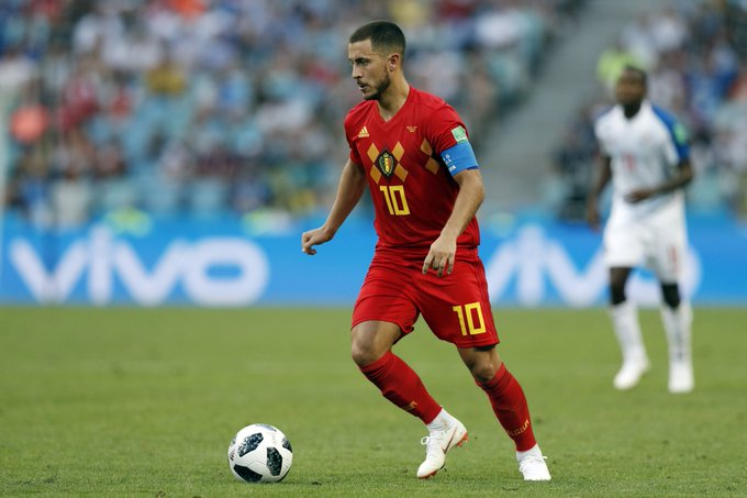 Eden Hazard for #BEL vs. #PAN: • Most fouls won (5) • Most take-cons completed (3) • Most interceptions (3) One assist to cap it all off. Photo
