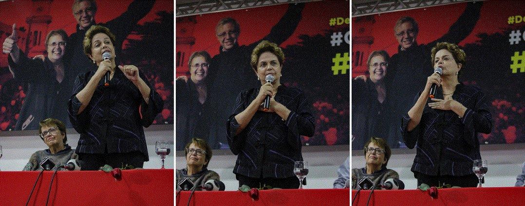 Imagens de Dilma Rousseff em Juiz de Fora no ato de lançamento das pré-candidaturas de Margarida Salomão e Betão. Havia tanta gente que três salões do hotel tiveram de ser usados - um para as palestras e dois com transmissão por telões.