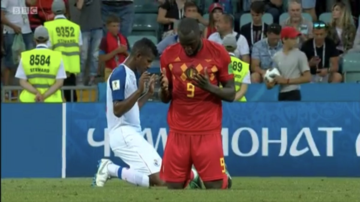 One is praying after a win, the other is praying after a loss. Always give thanks! #BELPAN