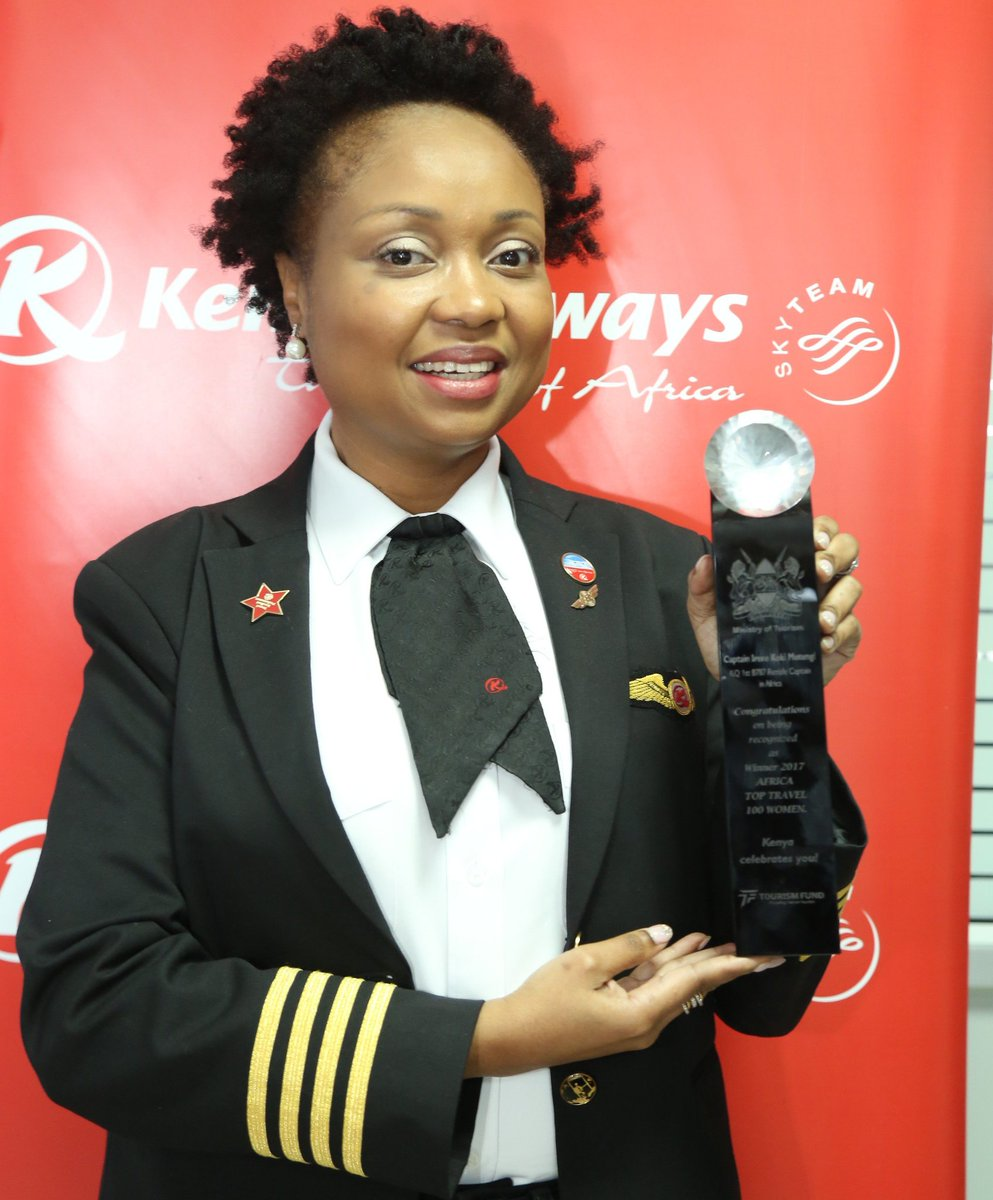 Image result for Africa's first female Dreamliner captain, Irene Koki