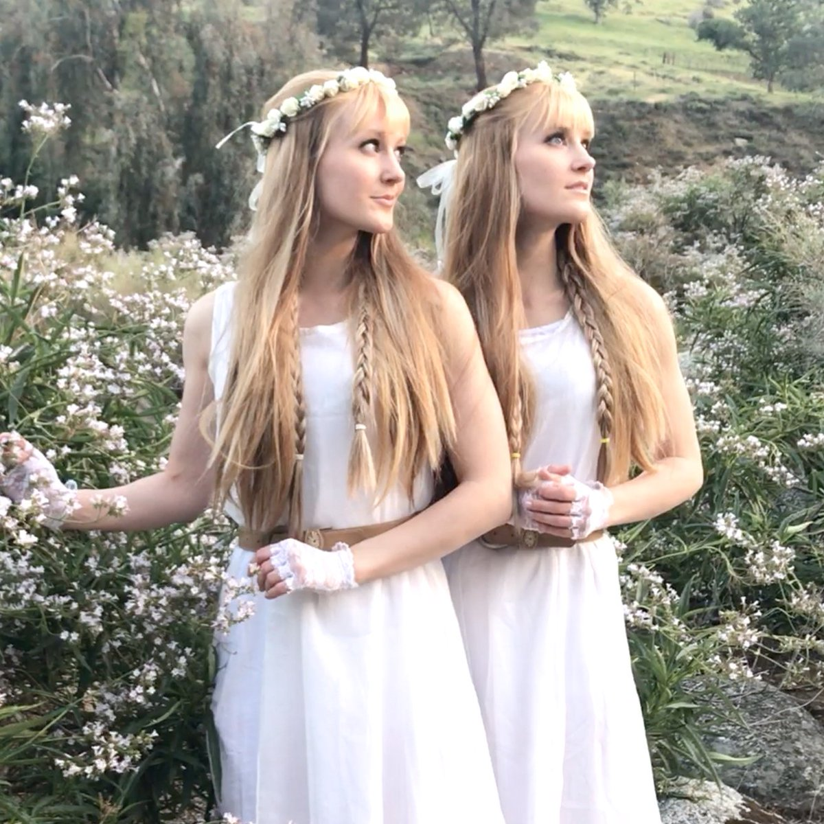 "Our 100th music video is here! We promised something very special… and it's a Harp Twins original SUMMER SOLSTICE song: ""Beneath the Midnight Sun""! youtu.be/y3ME_PLI_ps We hope you enjoy this peaceful and magical summer solstice lullaby! ☀️🌿#SummerSolstice #MidnightSun"
