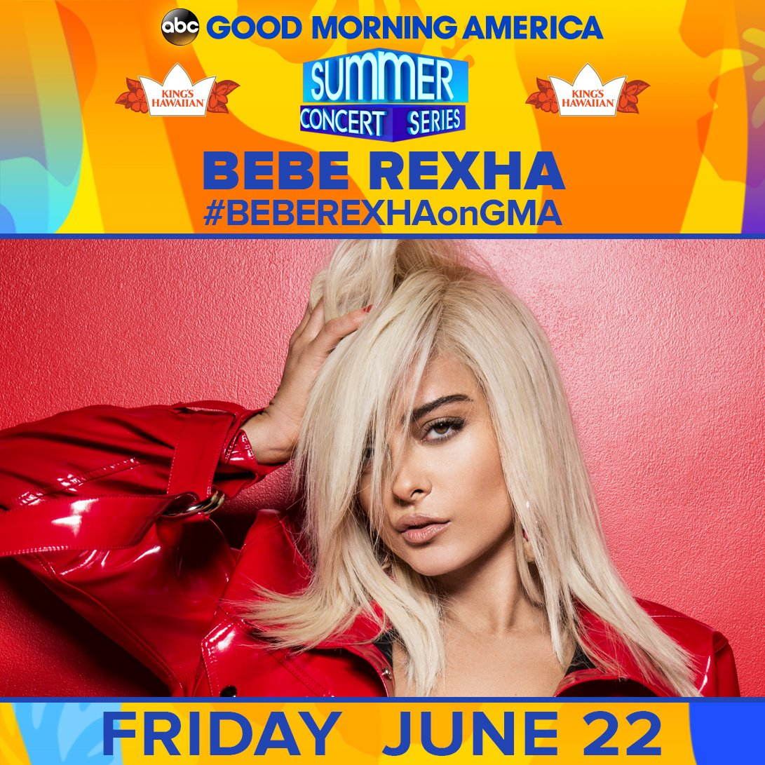 THIS FRIDAY: @BebeRexha is bringing the heat to Central Park! #BEBEREXHAonGMA 🔥🔥🔥