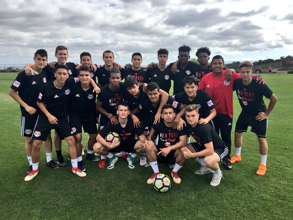 Our U-19s & U17s get underway in the #AcademyPlayoffs today out in ☀️ California! #RBNY | #TheFutureIsBright