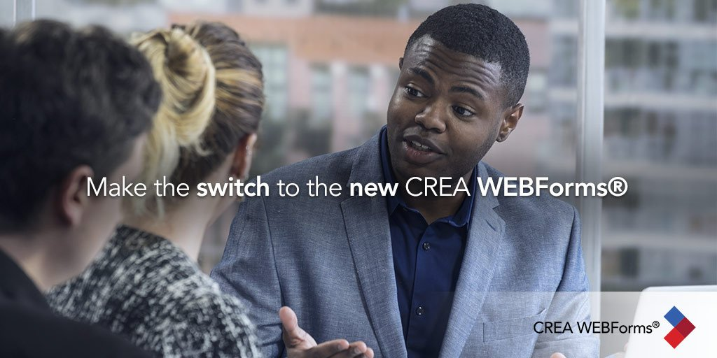test Twitter Media - In August when you log in to CREA WEBForms®, you will be automatically redirected to the new CREA WEBForms® experience. But why wait? Switch today: https://t.co/NFGJeiZOqI https://t.co/hFlOGDtVKt