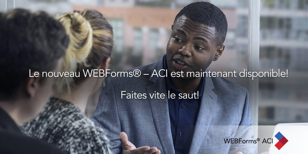 test Twitter Media - Le mois prochain quand vous accéderez à WEBForms® – ACI, vous serez automatiquement redirigé vers le nouveau WEBForms® – ACI. Pourquoi attendre? Faites vite le saut! https://t.co/uXpuUwyWnD https://t.co/M0bTrNhICk