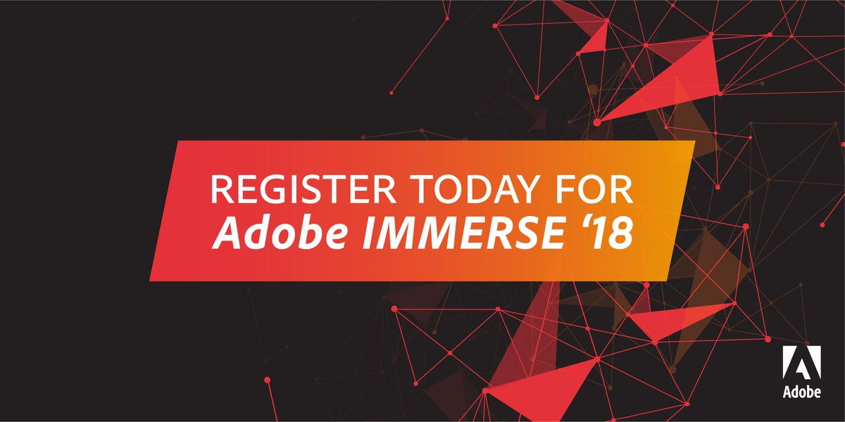 Learn more about Adobe IMMERSE and how to take advantage of this team learning opportunity: adobe.ly/2Mvu5oO