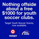 ACT NOW TIME IS RUNNING OUT!  JUNE 30 deadline!  EVERY Target is Granting $1,000 to a yth soccer program!  Don't let this $ go unfunded apply today!   https://t.co/1YQreanB3B