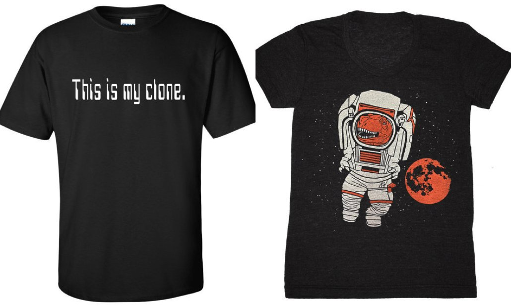 Embrace the trope with these science fiction tees found on Etsy: bit.ly/2lad9HG
