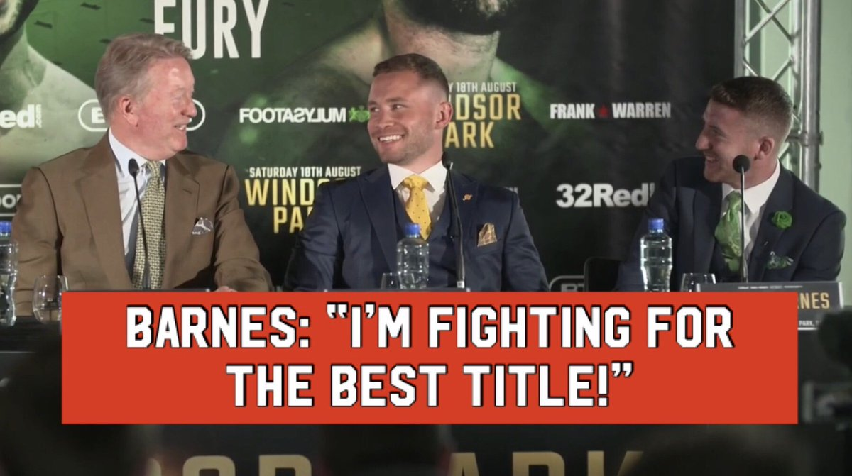 🗣@paddyb_ireland: I'm fighting for the WBC, the best title! 🗣@RealCFrampton: What's wrong with the IBF or WBA? 👀 🗣Frank: Or the WBO... 👀 Paddy Barnes is relishing his challenge for the WBC World Flyweight Title on August 18th 👑