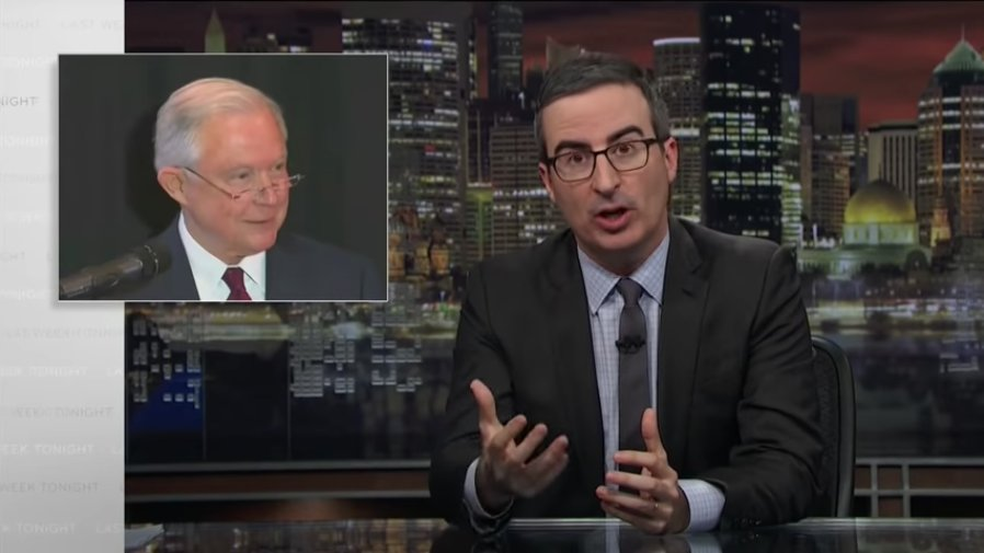 Watch John Oliver blast Jeff Sessions' Bible defense for migrant family separation https://t.co/h9FCobM4G8 https://t.co/oHmFj8UCte