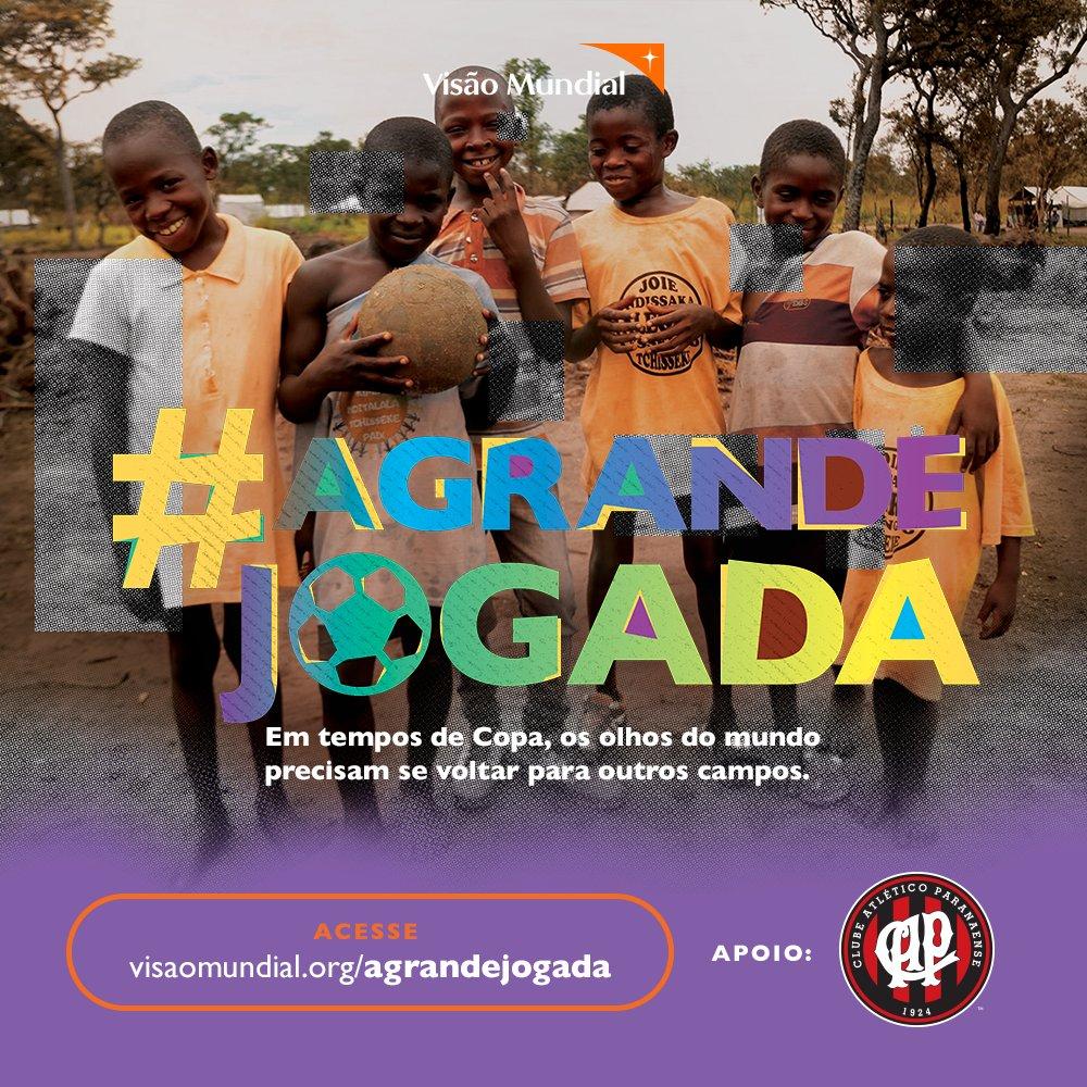 Atlético apoia campanha em defesa de refugiados da República Democrática do Congo. 'A Grande Jogada' é uma iniciativa da @visaomundialbr. Saiba como participar 👉 https://t.co/GABpH1K80o