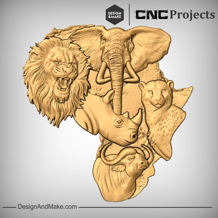 Check out this awesome new BIG FIVE project 🦁🐘🦏🐯🦌 from @DesignAndMakeIt