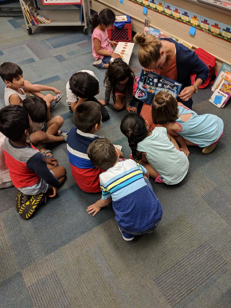 I love watching kids who love books! @rsdk5math #rsa2018 @DrDaveCobb @schottangie