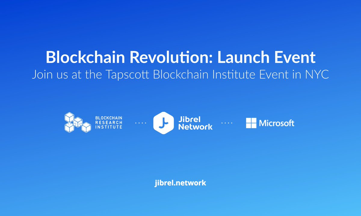 Join The Jibrel Team At Blockchain Revolution Book Launch Event Hosted By Alex Alextapscott And Dtapscott MicrosoftNY