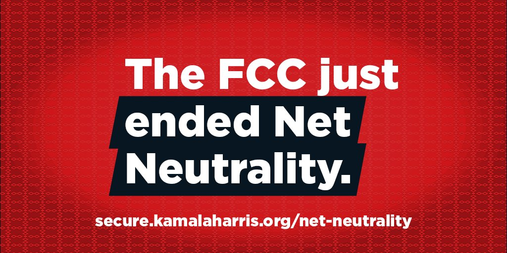 The FCC just ended #NetNeutrality, putting freedom of speech and innovation online at risk. Now we need Congress to act. Demand they vote to protect our free and open internet: https://t.co/ij8XDZ2aLZ