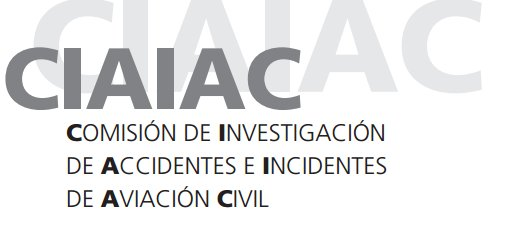 Image result for Comisión de Investigación de Accidentes e Incidentes de Aviación Civil (CIAIC) logo