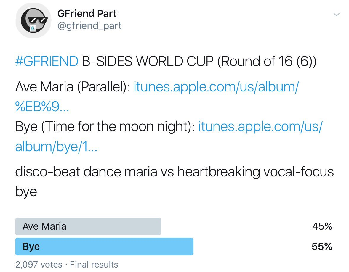 Gfriend Part śž On Twitter Gfriend B Sides World Cup Quarter Final 1 2 Result 1 Hear The Wind Sing Over Rain In The Spring Time Https T Co D9ihns0ttx 2 Flower Garden Crushed Crush S Dream Https T Co C8x0fgl2t5