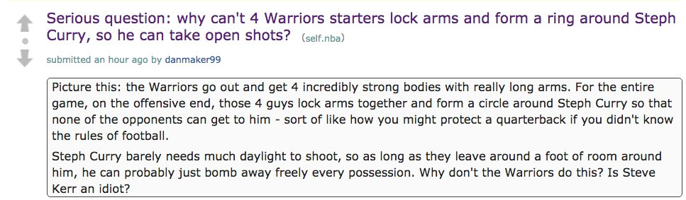 NBA reddit in peak offseason form