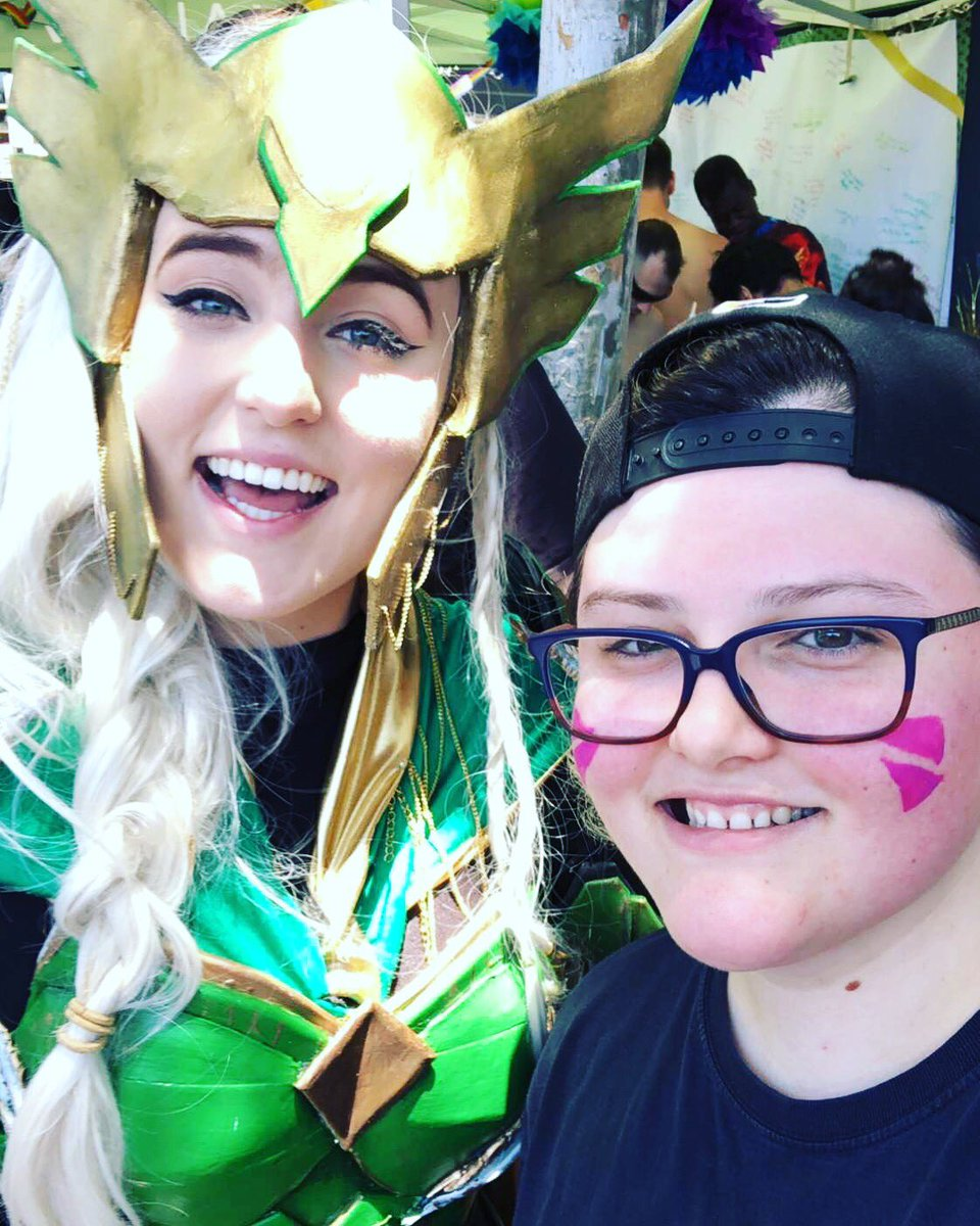 It was awesome getting to see the talented @_phasma_  today :) #BeValiant #wingsout #valla #LAValiant https://t.co/wS9s6z9YFN.