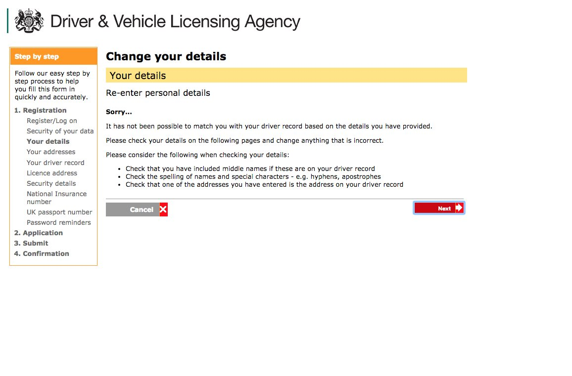 can i change my driving licence address online