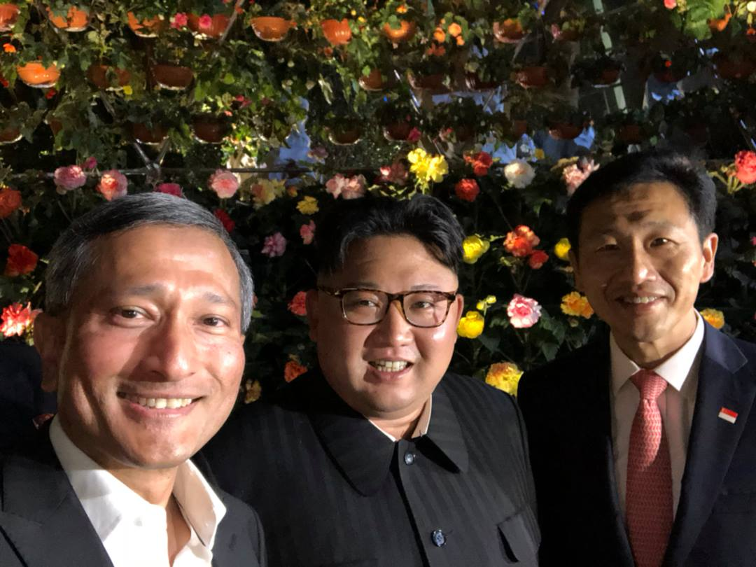 Kim Jong Un selfie at Singapore
