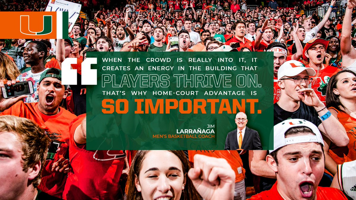 When our crowd is bringing the energy and noise, there is just no better place to play. Help us build that home-court advantage at the Watsco Center next season and purchase your season tickets today! 🎟: gocan.es/2MfxqrI