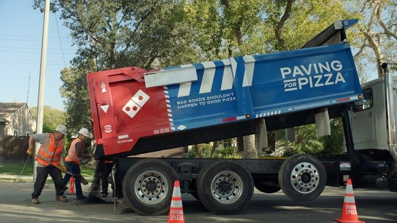 Domino's Pizza unveils U.S. infrastructure project filling potholes https://t.co/PHOXUIvRsP by @aarthiswami