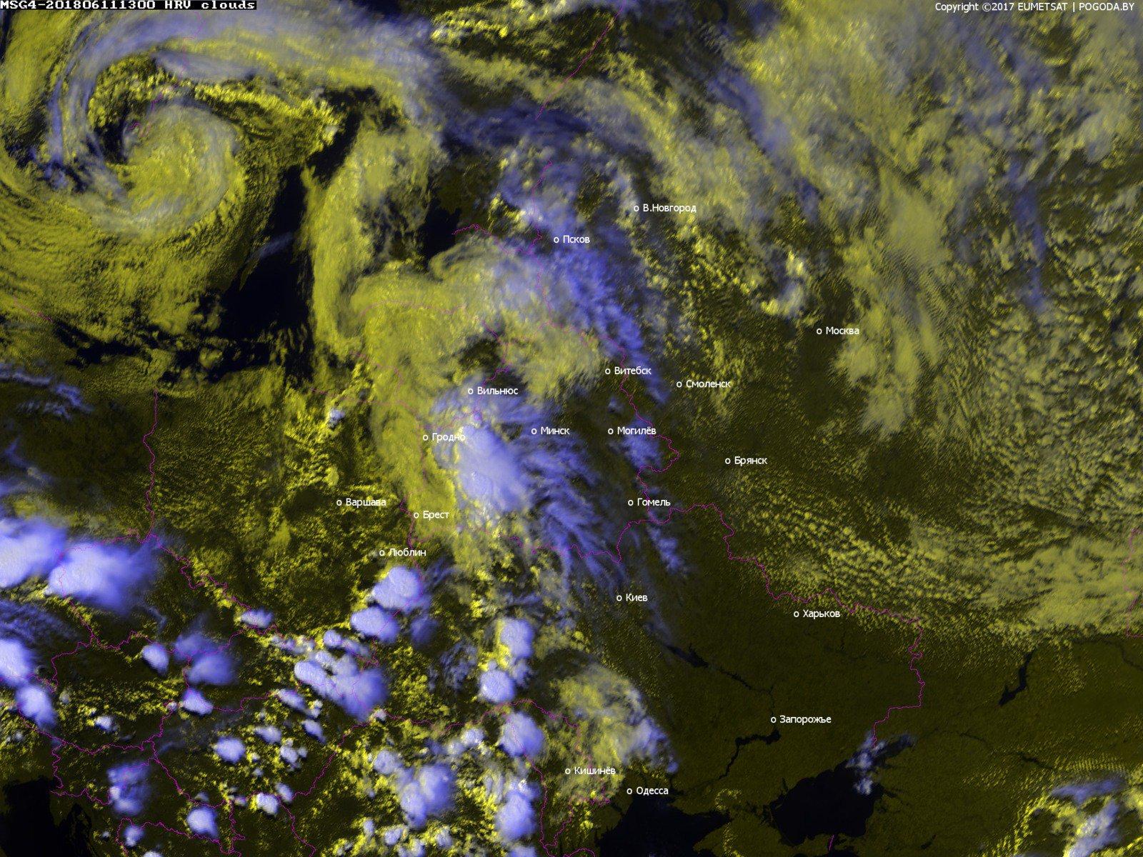 Оранжевый уровень опасности из-за гроз и сильного ветра объявлен по западу Беларуси 11 июня