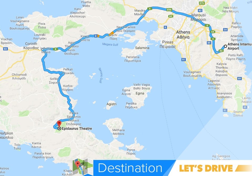 Let S Drive On Twitter Discover The Route To Old Epidaurus A