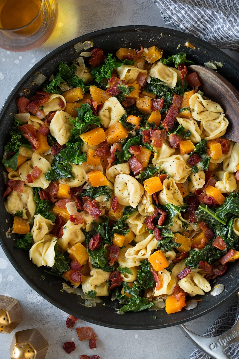 Please RT! #recipes #food One Pan Creamy Tortellini with Butternut Squash Kale and Bacon https://t.co/BDb0ckd6hj https://t.co/e1IMKmNXXa