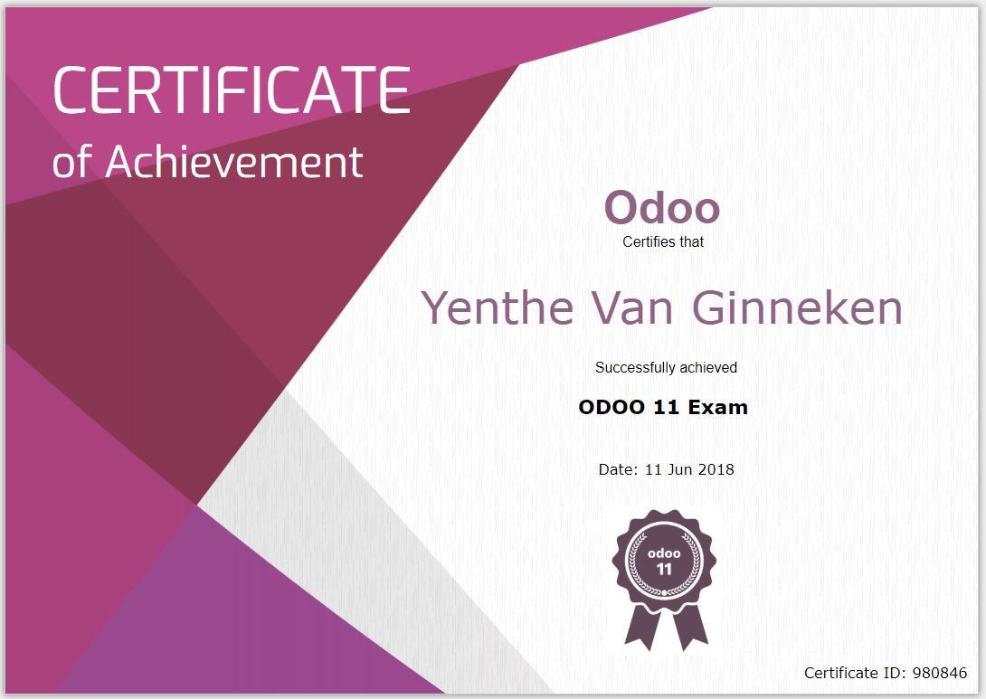 Yenthe van ginneken on twitter hooray passed the v11 odoo yenthe van ginneken on twitter hooray passed the v11 odoo functional exam now too both v10 and v11 certified thanks to odooexperts publicscrutiny Choice Image
