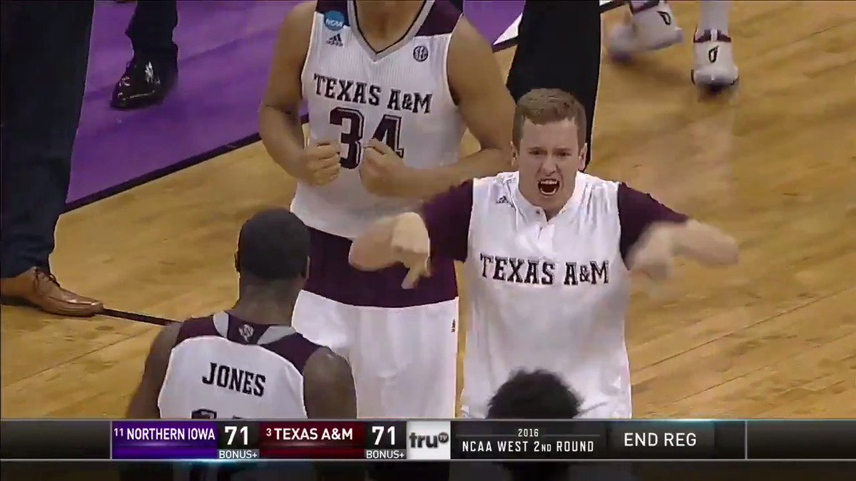 In 2016, Texas A&M trailed by 12 with 35 seconds to play… and they won 😳  Revisit the remarkable 14-2 run that kept @aggiembk's #Sweet16 hopes alive! https://t.co/re65KQxVRY