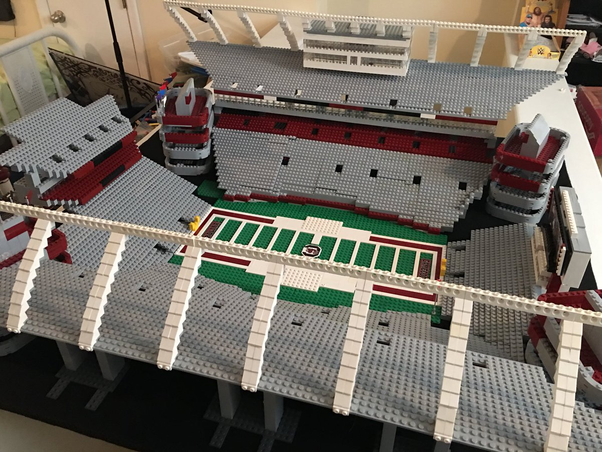 Father, Son Build Incredible College Football Stadium Using 5,000 Legos