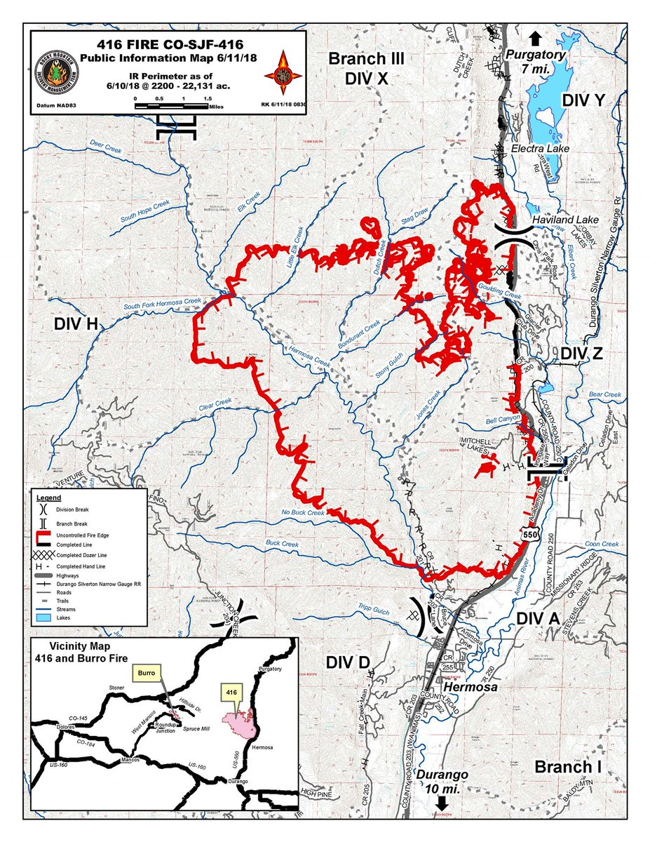Co Wildfire Info On Twitter 416fire Update 22 131 Acres And 10