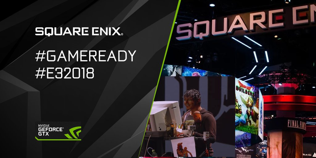 The Square Enix conference is about to begin! What are you wanting to see? Tune-in here ➡️ nvda.ws/2LFQ1MG and chat with #GameReady #E32018 for a chance to win prizes! 💬