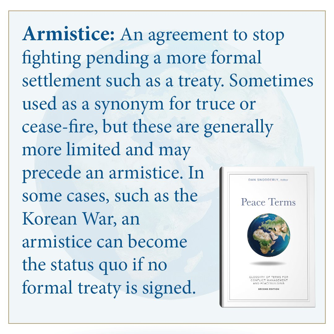 Us Institute Of Peace On Twitter Armistice An Agreement To Stop