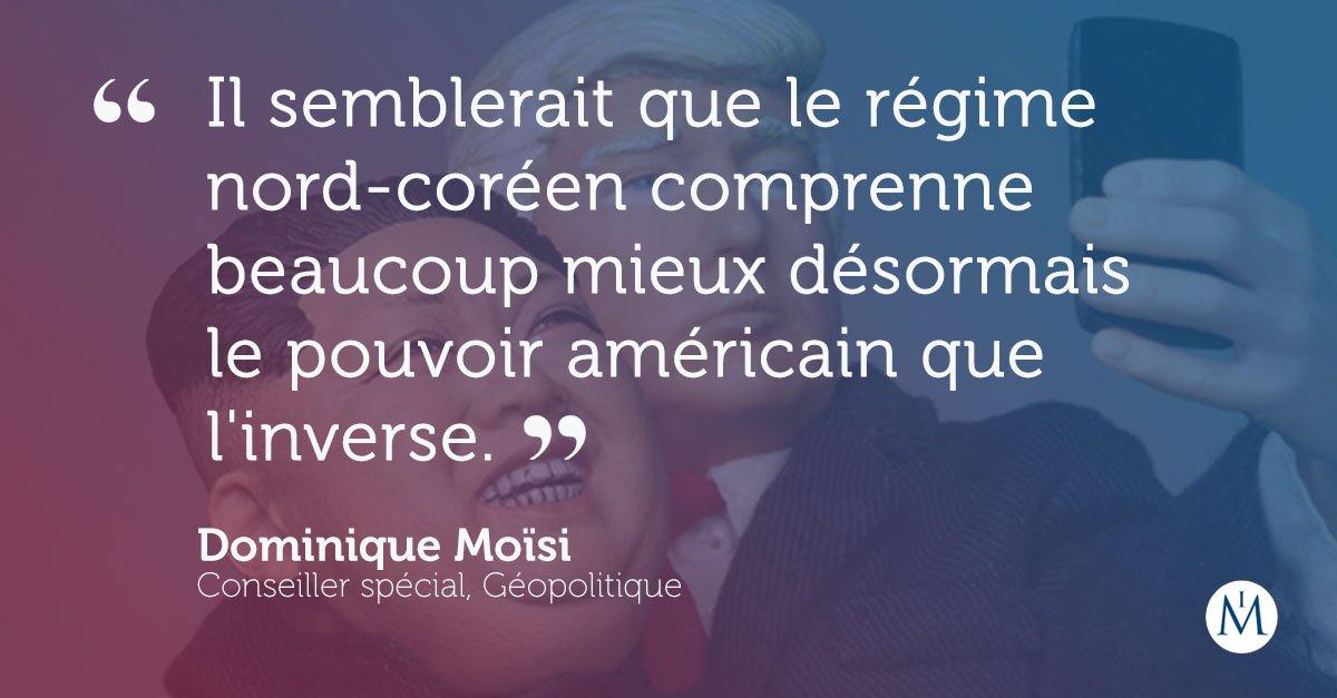 🇺🇸🇰🇵 #TrumpKim : pour Dominique Moïsi, Washington n'a rien à gagner de la rencontre qui aura lieu entre les deux chefs d'Etat demain. https://t.co/NHgLTK2GjD