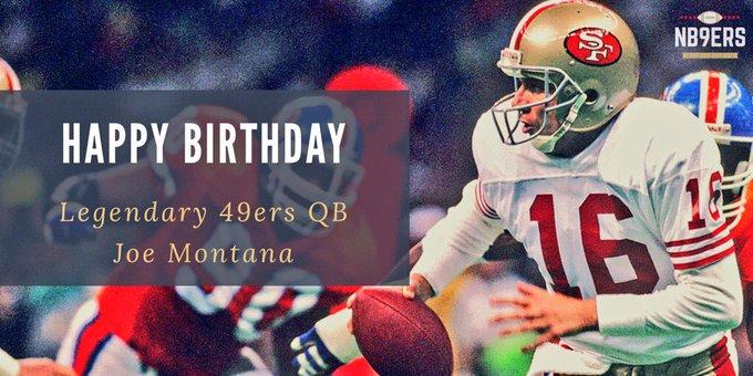 Happy Birthday to the GOAT legendary QB Joe Montana (