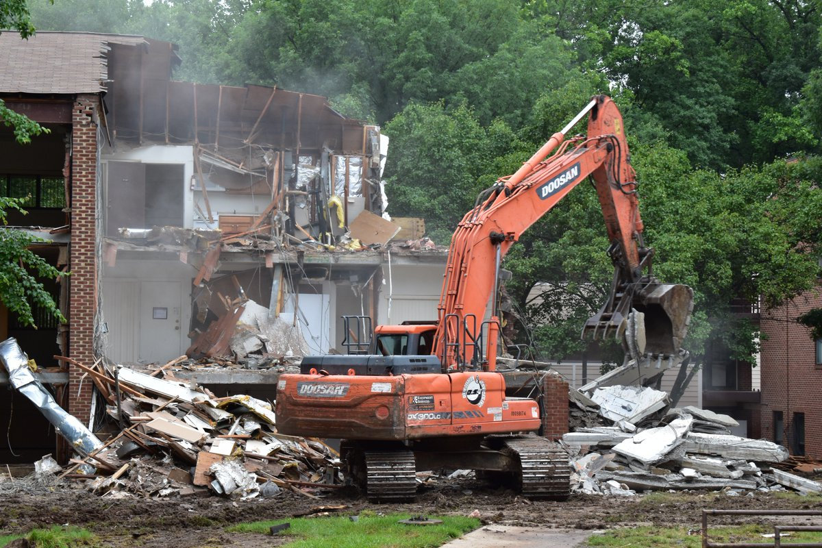 Check Out The Demolition Going On At Student Apartments Pic Twitter Sftawjgu1m