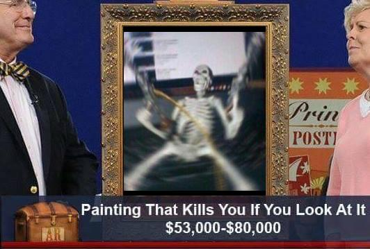ShitpostBot On Twitter - Painting that kills you