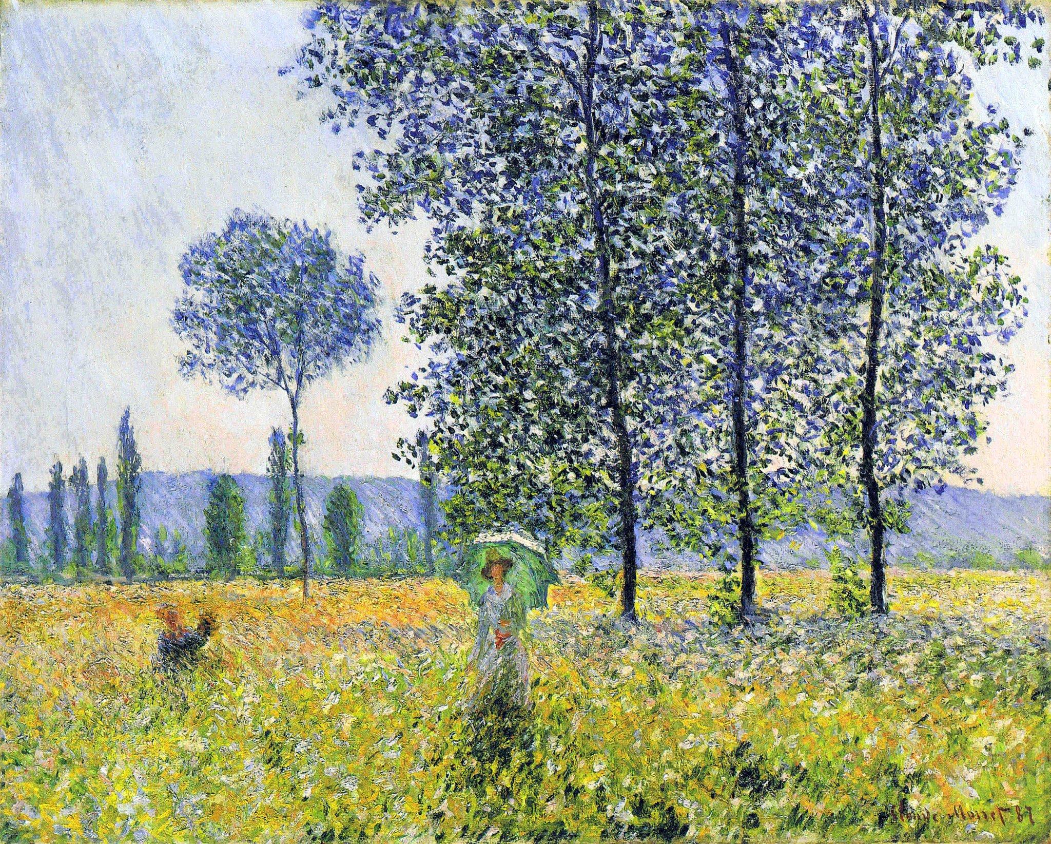 """Claude Monet on Twitter: """"Sunlight Effect under the Poplars #frenchart # monet… """""""