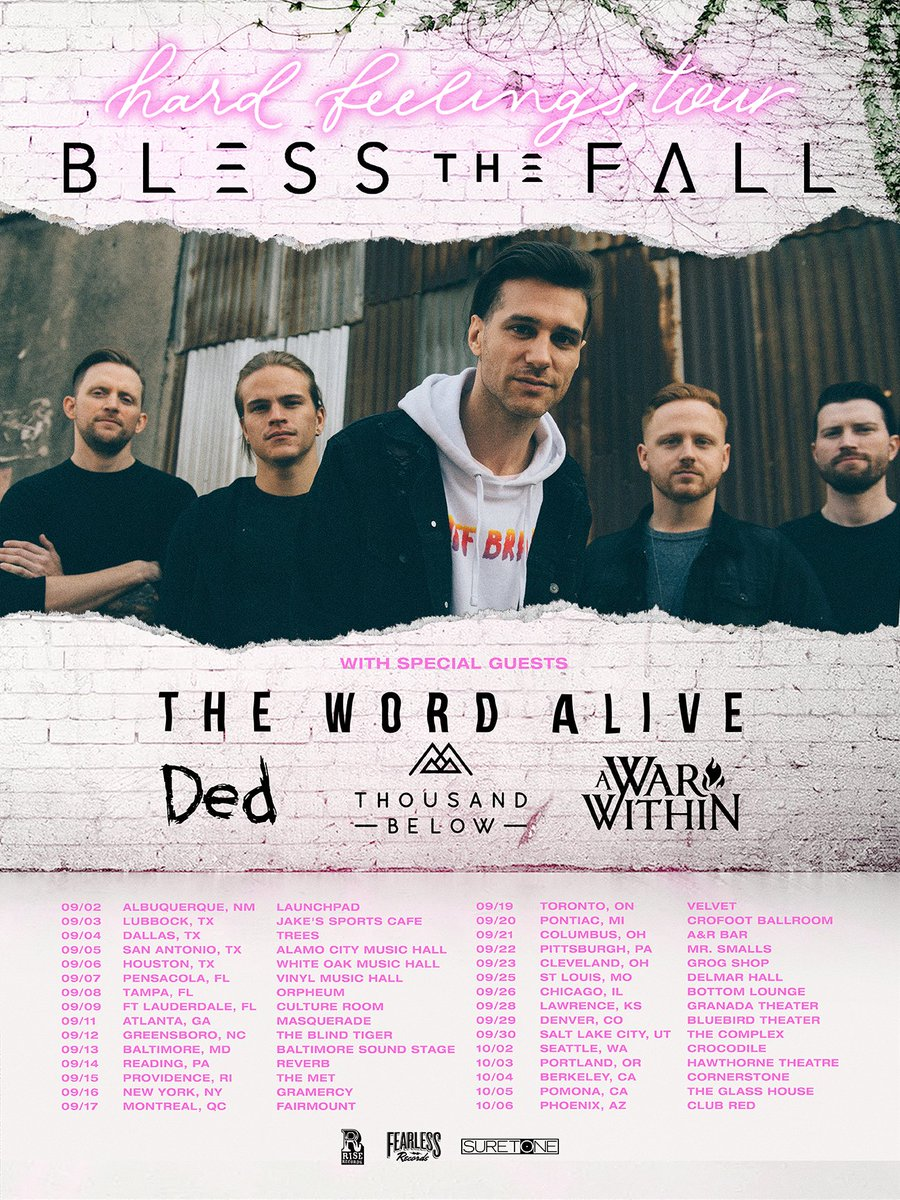 Blessthefall On Twitter Were Excited To Announce The Hard